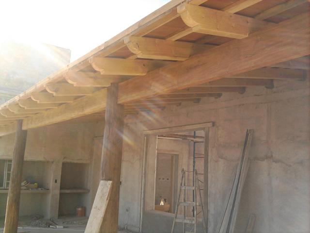 Carpinter a en viviendas for Modelos de techos para galerias